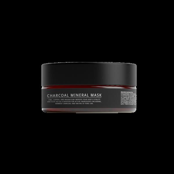 charcoal mineral mask jar